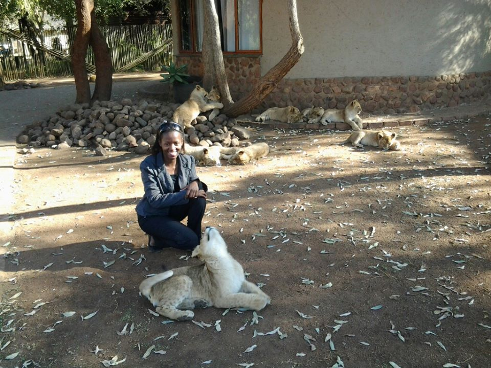 Phindiwe Nkosi at Ukutula Lodge and Lion Centre