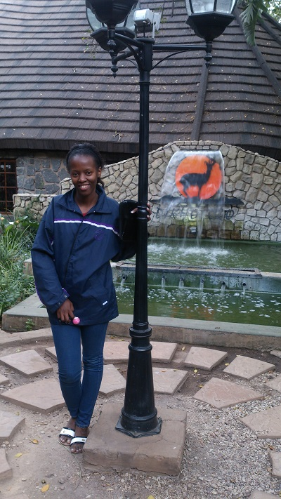 Phindiwe Nkosi at Dikhololo Game Reserve in Brits. Photo by LN