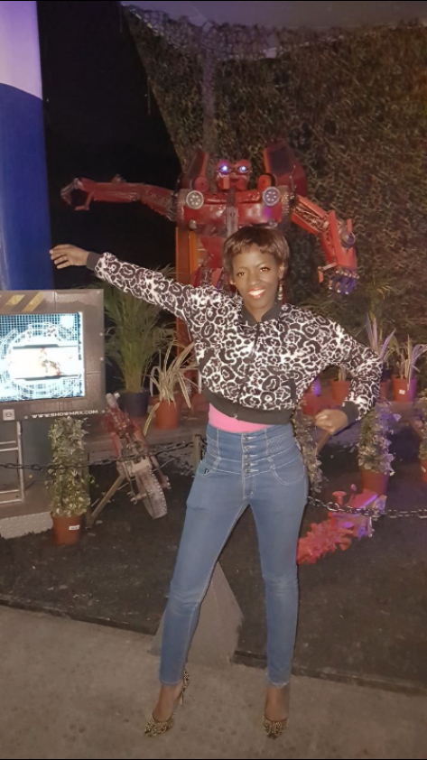 Phindiwe Nkosi at the Transformers Exhibition at Centurion Mall, Pretoria. Photo by SL