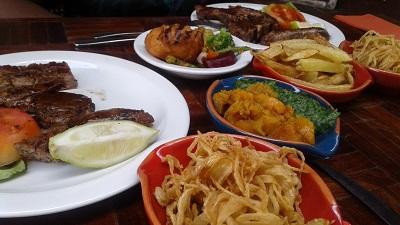 Food from Karoo Grill & Bar Restaurant at Irene Village Mall. Photo by Phindiwe Nkosi / S.N-B