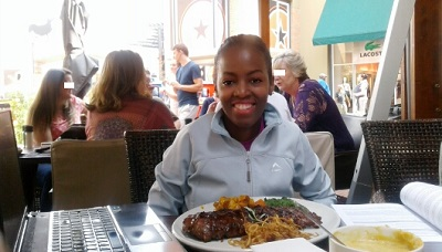 Phindiwe Nkosi at Karoo Grill & Bar Restaurant at Irene Village Mall. Photo by HN / S.N-B