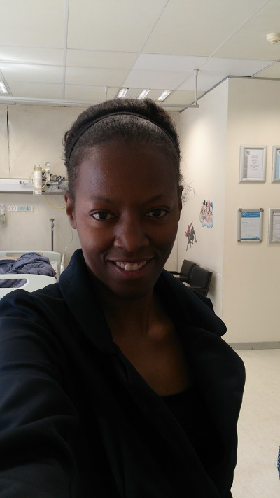 Phindiwe Nkosi inside a ward at Medicross Medical Centre, Constantia Park in Garsfontein, Pretoria.