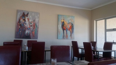 Inside Randjesfontein Breakfast Clubhouse (Restaurant) in Midrand. Photo by S NB