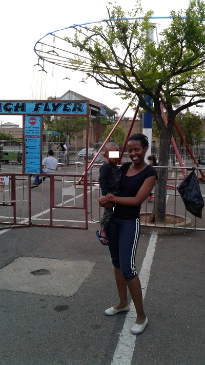 Phindiwe Nkosi at the Amusement Rides at Atterbury Value Mart. Photo by S N-B